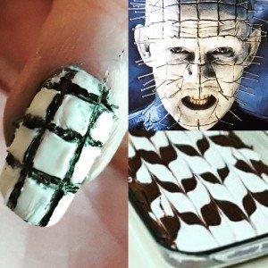 My nails look like goddamn brownies. Pinhead does not like brownies.