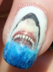 Jaws Nail Art - Ring Finger
