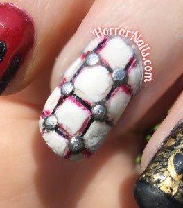 Hellraiser Nail Art - Middle Finger