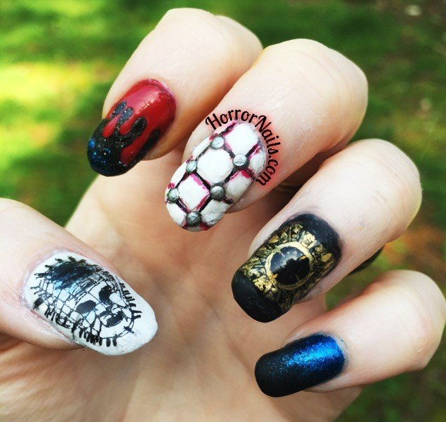 Hellraiser Nail Art by HorrorNails.com