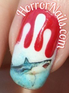 Jaws Nail Art - Middle Finger