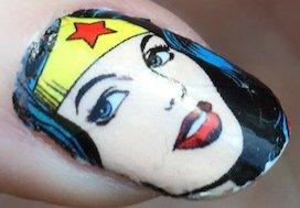 Wonder Woman Nail Decal
